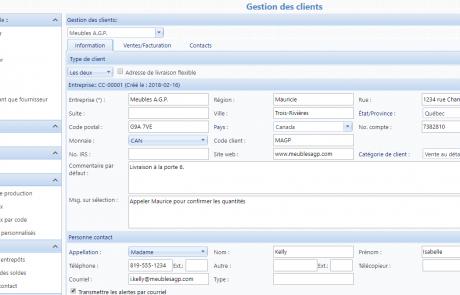 L'application permet une gestion efficace des client